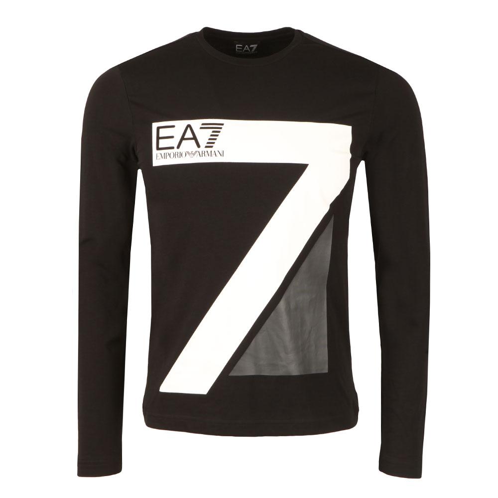2055f42e EA7 Emporio Armani 7 Logo Long Sleeve T Shirt | Masdings