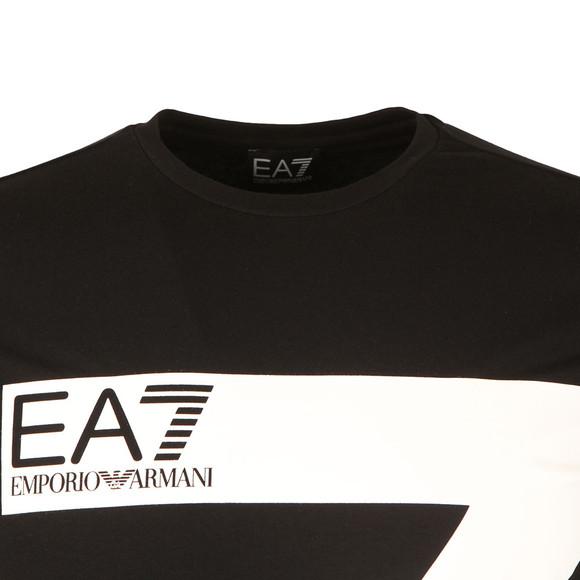 EA7 Emporio Armani Mens Black 7 Logo Long Sleeve T Shirt main image