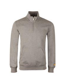 Carhartt Mens Grey Chase Half Zip Sweatshirt