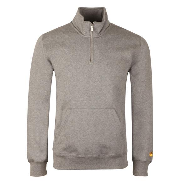 Carhartt WIP Mens Grey Chase Half Zip Sweatshirt main image