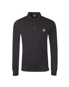 Boss Orange Mens Blue Paulyn Long Sleeve Polo Shirt