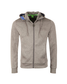 Boss Green Mens Grey Saggy Ribbed Shoulder Hoody
