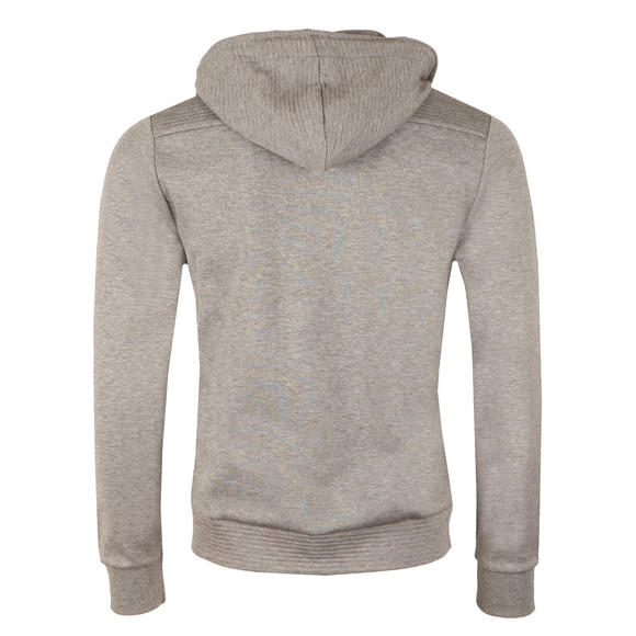 Boss Green Mens Grey Saggy Ribbed Shoulder Hoody main image