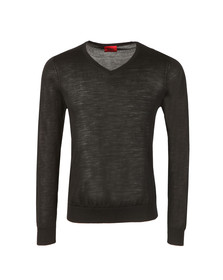 Hugo Mens Black San Carlo V Neck Jumper