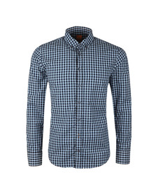 Boss Orange Mens Blue Epreppy Check Shirt