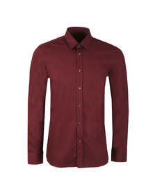 Hugo Mens Red Elisha 01 Slim Shirt
