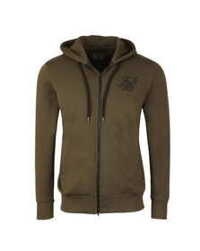 Sik Silk Mens Green Zip Through Hoody
