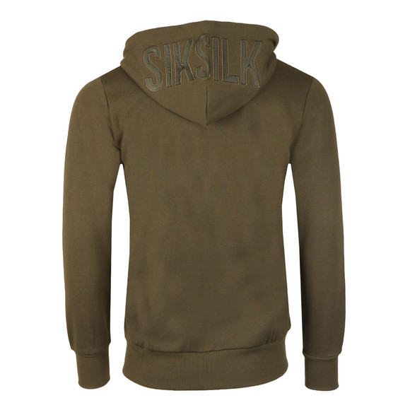 Sik Silk Mens Green Zip Through Hoody main image