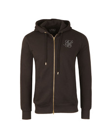 Sik Silk Mens Black Zip Through Hoody