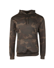 Sik Silk Mens Black Poly Overhead Hoody