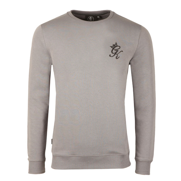 Gym king Mens Grey Crew Sweatshirt main image