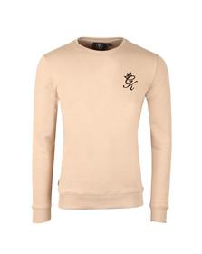 Gym king Mens Beige Crew Sweatshirt