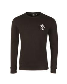 Gym king Mens Black Crew Sweatshirt