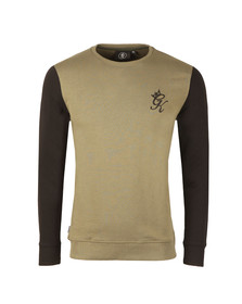 Gym king Mens Green Crew Sweatshirt