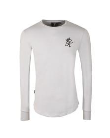 Gym king Mens Grey Long Sleeve Undergarment Tee