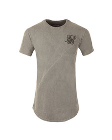 Sik Silk Mens Grey Curved Hem T Shirt