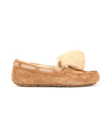 Ugg Womens Brown Dakota Pom Pom Slipper