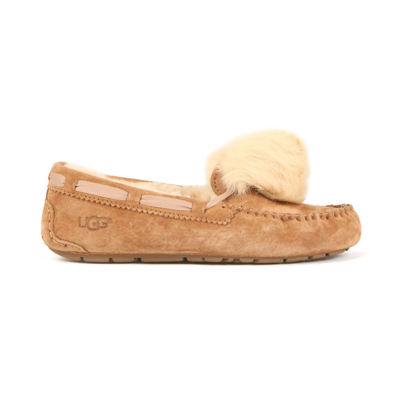 Ugg Womens Brown Dakota Pom Pom Slipper main image