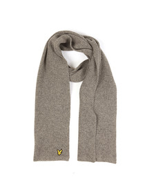 Lyle and Scott Mens Grey Racked Rib Scarf