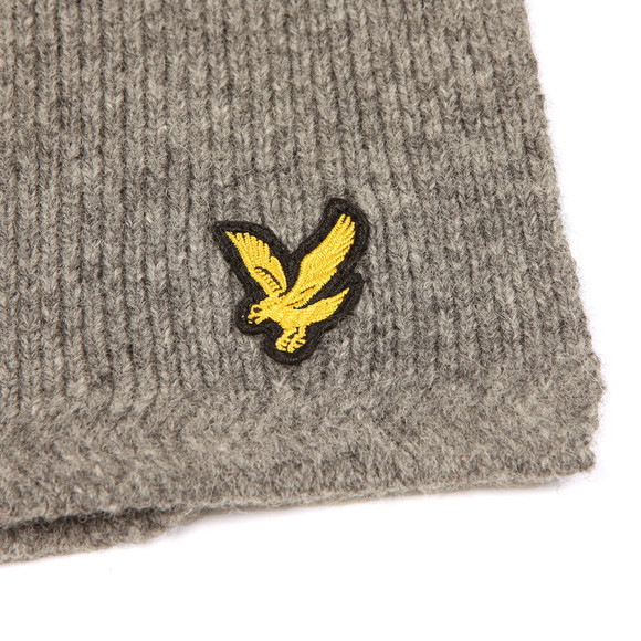 Lyle and Scott Mens Grey Racked Rib Scarf main image