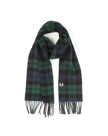Fred Perry Mens Green Black Watch Tartan Scarf