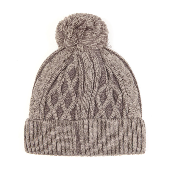 Luke Mens Grey Bailey Plated Cable Beanie main image