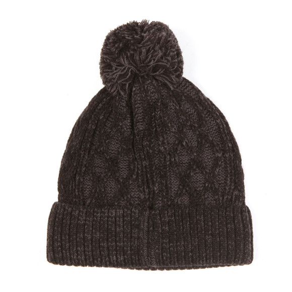 Luke Mens Black Bailey Plated Cable Beanie main image