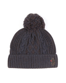 Luke Mens Blue Bailey Plated Cable Beanie