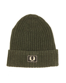 Fred Perry Mens Green 2 Tone Beanie