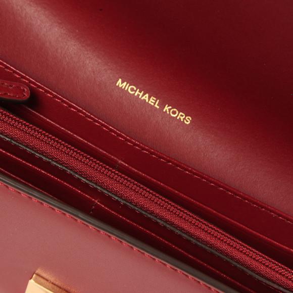 Michael Kors Womens Purple Mott Carryall Purse main image