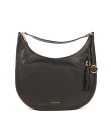 Michael Kors Womens Black Lydia Large Hobo Bag