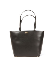 Michael Kors Womens Black Mott Mid Tote Bag