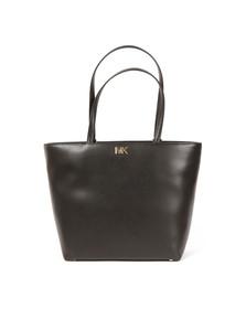 Michael Kors Womens Black Mott Mid Tote Bag