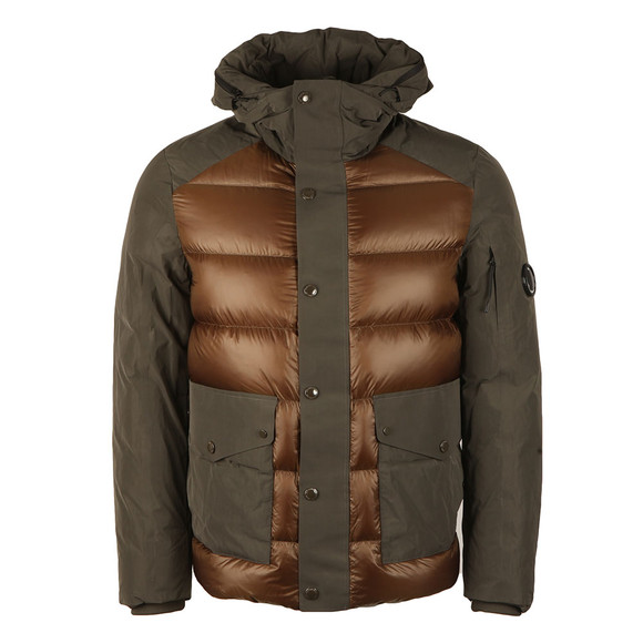 CP Company Mens Green Direct Down Hooded Shell Jacket main image
