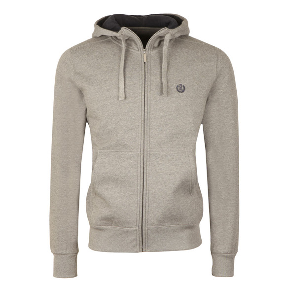 Henri Lloyd Mens Grey Bredgar Full Zip Hooded Sweat main image