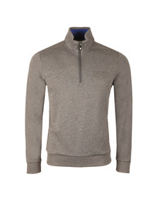 Boss Green Mens Grey Half Zip Sweat