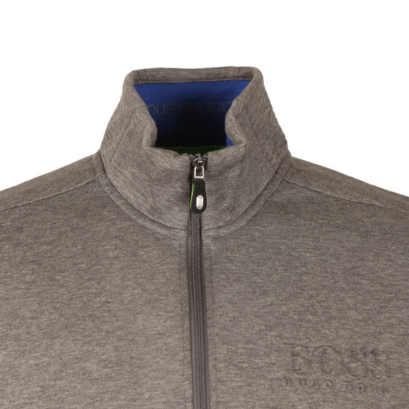 Boss Green Mens Grey Half Zip Sweat main image