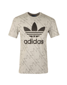 Adidas Originals Mens Grey S/S Trefoil Aop Tee
