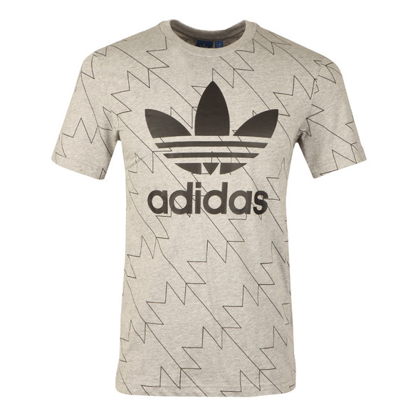 adidas Originals Mens Grey S/S Trefoil Aop Tee main image