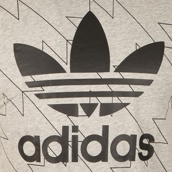 Adidas Originals Mens Grey S/S Trefoil Aop Tee main image