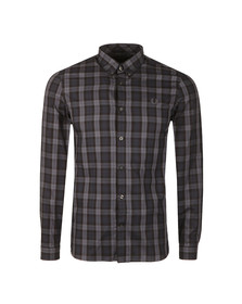 Fred Perry Mens Black Winter Tartan LS Shirt