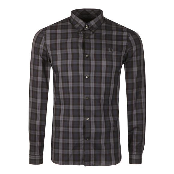 Fred Perry Mens Black Winter Tartan LS Shirt main image