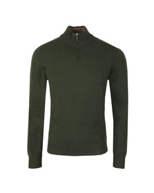 Hackett Mens Green Half Zip Knit