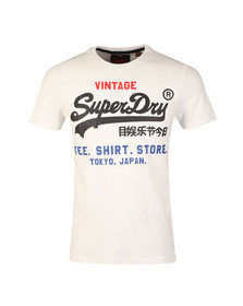 Superdry Mens White Shirt Shop Tri Tee