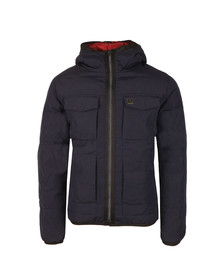 Luke Mens Blue Re Emersion Reversible Quilted Jacket