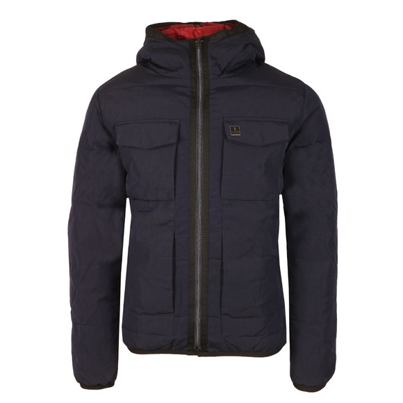 Luke Mens Blue Re Emersion Reversible Quilted Jacket main image