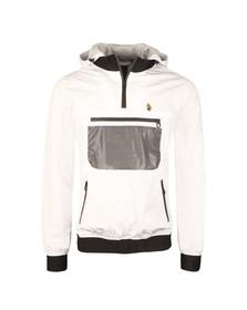 Luke Sport Mens White Roberto Overhead Funnel Hood Jacket
