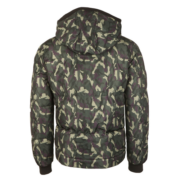 True Religion Mens Green Hooded Camouflage Jacket main image