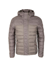 Superdry Mens Grey Fuji Mix Double Ziphood Jacket