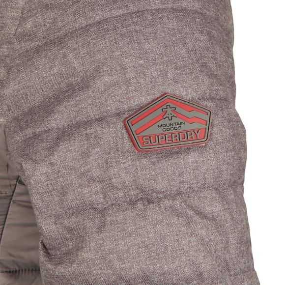Superdry Mens Grey Fuji Mix Double Ziphood Jacket main image